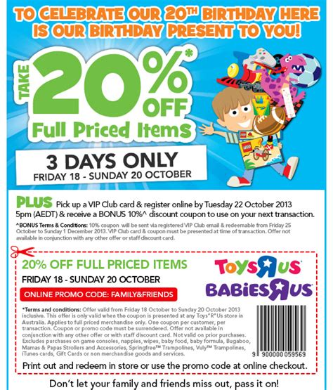 Promo Open Member Free Resa Fahdila Boutique toys r us 20 percent promo voucher code and in store coupon token