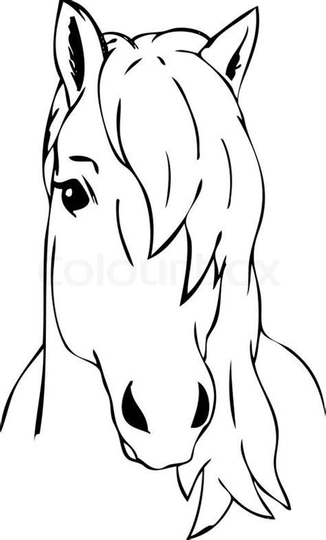 coloring pictures of horses heads sehr behaart pferdekopf isoliert vektorgrafik colourbox