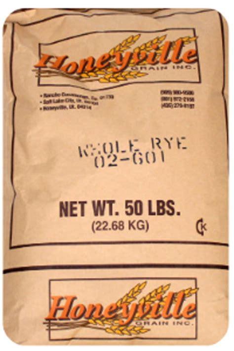 whole grain rye 50 lb honeyville whole grain rye 50 lb