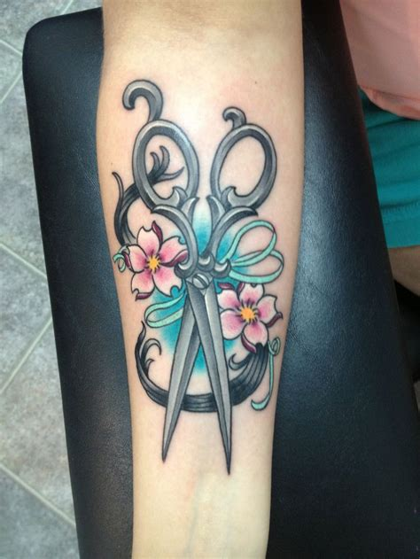 hair stylist tattoo designs hair stylist s shears by kevin scarmozzi