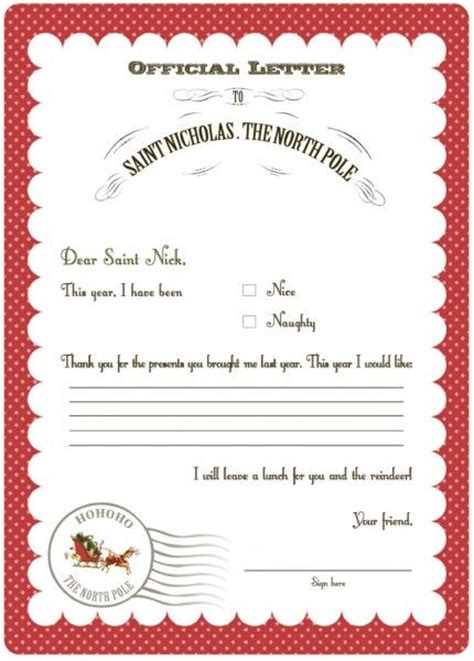 Official Letter To Santa 1000 Ideas About Letter To Santa On Santa Letter Printable Letters And Letter To