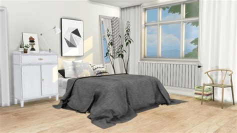 the sims 4 bed cc mxims bedroom 5 updated lauren bed frame merged with