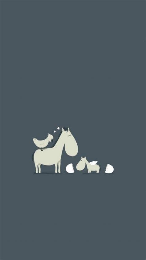 wallpaper iphone 6 horse cute cartoon horses and bird wallpaper free iphone