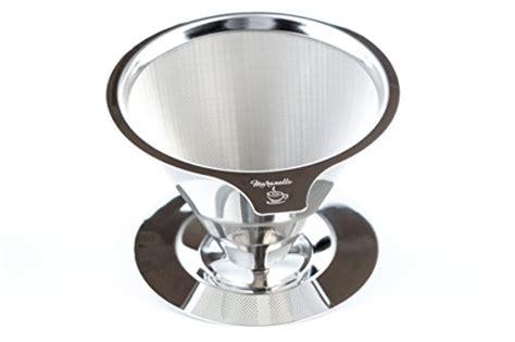 Diguo V60 Pour Coffee Cone Dripper Reusable 1 4 Cup Dg 185a Maranello Caff 233 Stainless Steel Pour Paperless Cone Drip Coffee Maker Reusable Filter