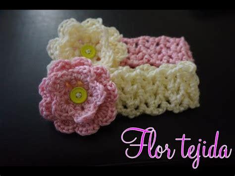 natural crochet tejidos flores para cintillos crochet flor tejida paso a paso youtube