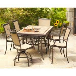 Home Depot Patio Dining Sets Hton Bay Westbury 7 Sling Patio High Dining Set S7 Adq27113 The Home Depot
