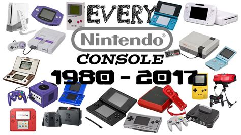 Every Nintendo Console by Every Nintendo Console Made 1980 2017