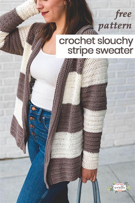 crochet slouchy stripe cardigan black crochet dress
