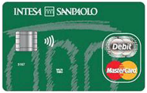 banco di napoli carta di credito carte di debito di intesa sanpaolo parte i