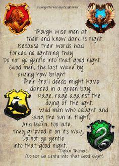 harry potter poem http harrypotterhousequotes post 56267248613