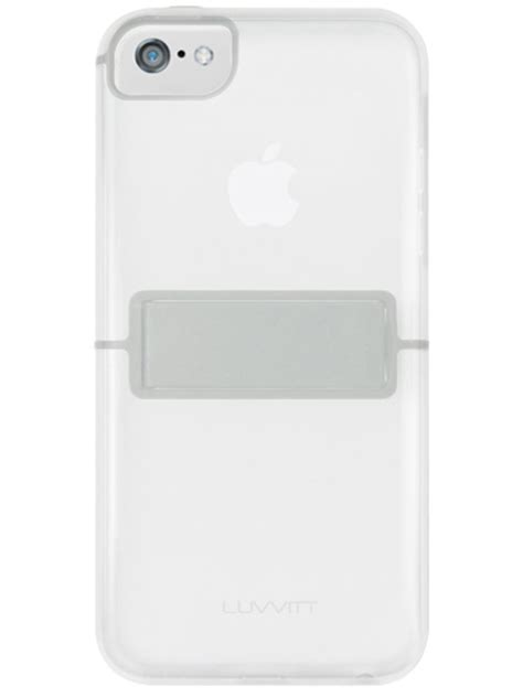 Transparant Bumper For Iphone 44s luvvitt 174 hybrid kickstand transparent slim clear back bumper with kickstand for iphone 5c