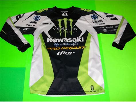 kawasaki motocross jersey 89 jersey motocross monster energy thomas covington