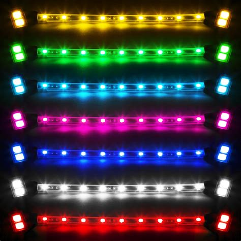 led glow lights for motorcycle ultra bright neon falcon led pink blue white red amber