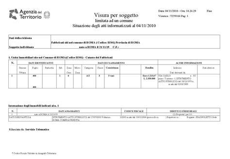 ufficio protesti roma visura catastale certificati e pratiche