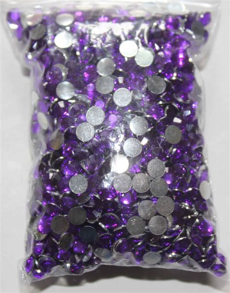 purple crafts for 2 000pcs purple rhinestones flatback 4 8mm gems for