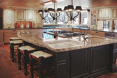 Country kitchen islands with seating, country dining