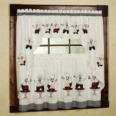 Chef Kitchen Curtains Chef Kitchen Curtains 28 Images Chef Bistro White Kitchen Curtains Tiers Swag Savory Chefs