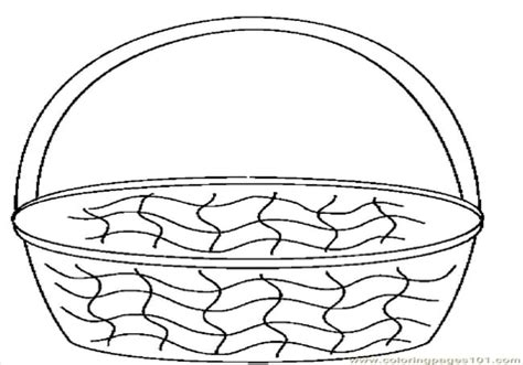coloring page of empty easter basket empty basket coloring coloring pages