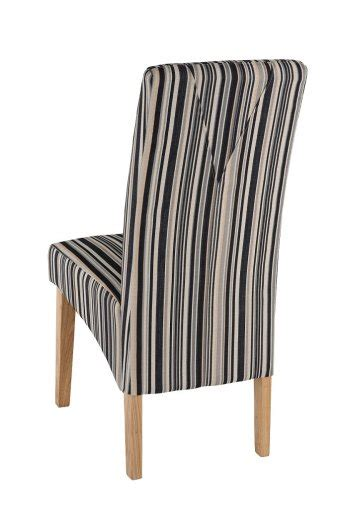 Striped Fabric Dining Chairs Roma Striped Fabric Dining Chair