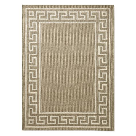 Key Outdoor Rug by Faux Key Indoor Outdoor Rug Angora Gray Williams Sonoma