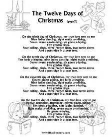 bluebonkers the twelve days of christmas page2
