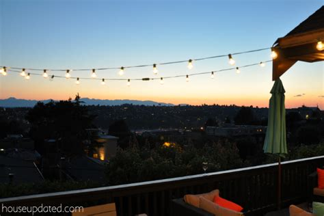 How To Hang Up Lights by Diy Posts For Hanging Outdoor String Lights House Updated
