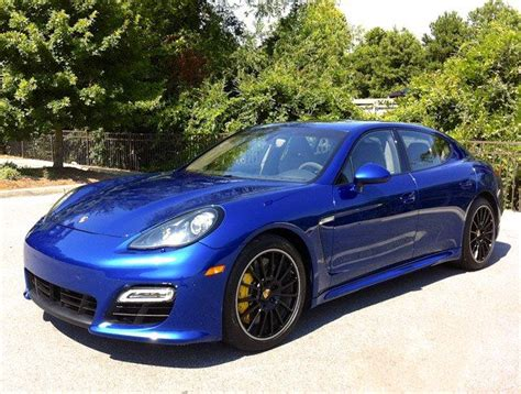 porsche panamera blue porsche panamera turbo s 161 only blue