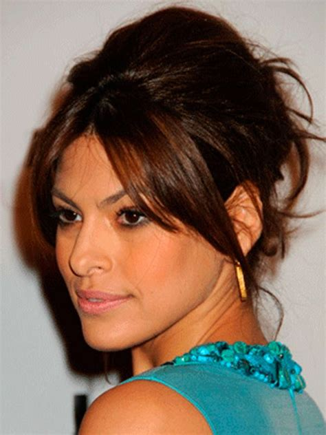 hairstyles for unwanted bangs 33 best eva mendes updos for long hair images on