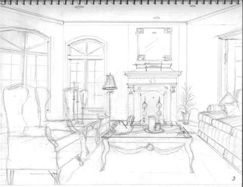 perspective living room drawing living room interior perspective drawings search drawings interiors