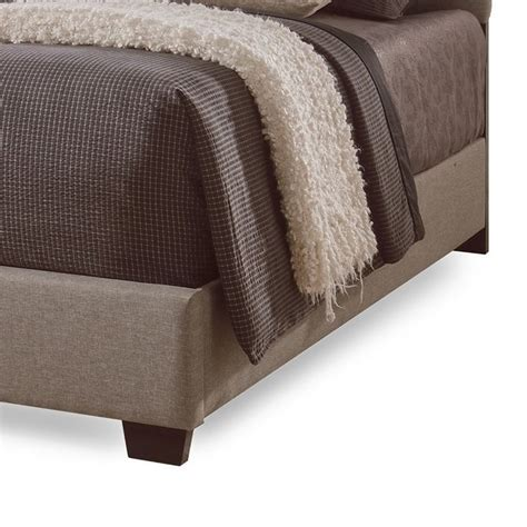 cing bed roll romeo upholstered king bed in brown cf8609 king brown