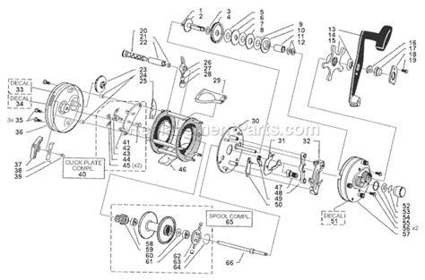 abu garcia parts diagrams abu garcia 6500 tcst parts list and diagram 08 01