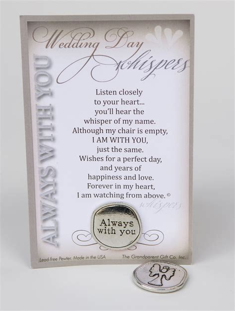 Handmade Memorial Gifts - wedding day memorial gift handmade pewter coin