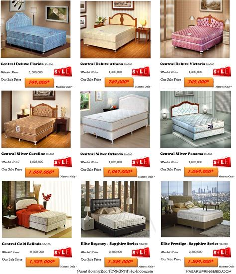 Daftar Kasur Central No 2 harga bed promo central elite bed promo
