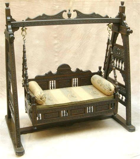 Handcrafted Furniture India - handcrafted indian wood jhula authentic indian carved