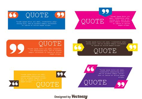 graphic design quote template testimonials quote template collection vectors