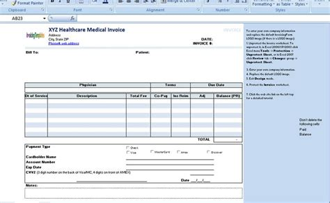 patient invoice template the invoice template is useful for any healthcare