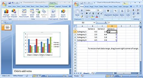 inserting charts in powerpoint 2007 for windows excel chart into powerpoint presentation insert excel