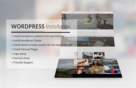 wordpress theme installation wordpress site demo logo