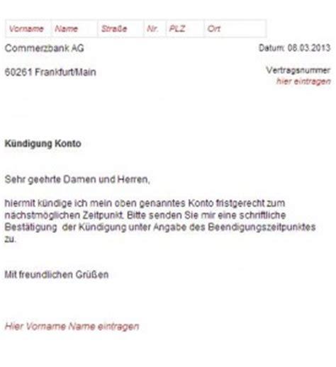 Bearbeitungsgebühr Kredit Zurückfordern Kostenloser Musterbrief Vorlage K 252 Ndigung Konto Comdirect Hotline
