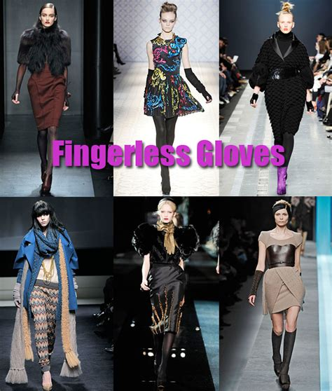 Trend For Fall Gloves Fingerless Gloves Gloves And More Gloves by Fall 2009 Milan Fashion Week Fingerless Gloves