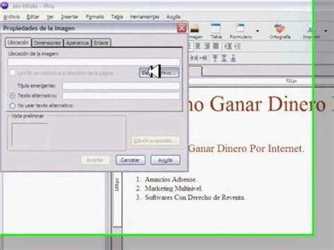 tutorial nvu youtube tutorial editor nvu obten codigos html youtube