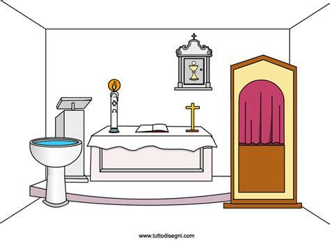 disegno interni interno di una chiesa oggetti sacri tuttodisegni
