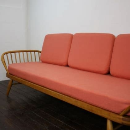 ercol studio couch vintage ercol studio couch blonde and orange lovely