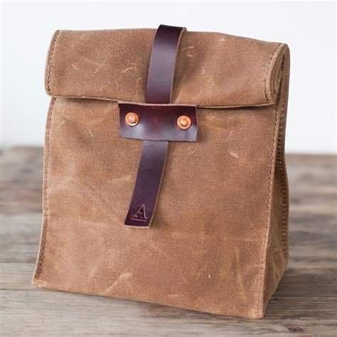 Canvas Lunch Bag artifact waxed canvas lunch tote the green