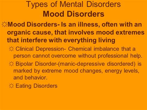 mood swings mental illness mental emotional health stress and anxiety disorders ppt