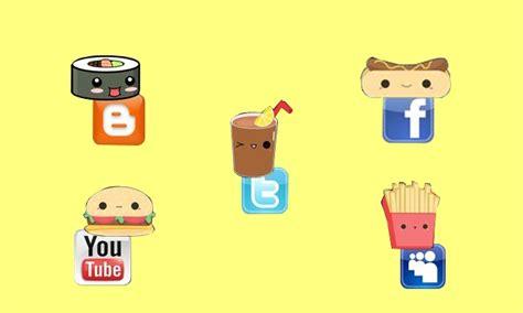 imagenes de iconos kawaii kawaii redes sociales