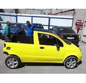 Daewoo Matiz Turned Into Mini Pickup By Creative Russians