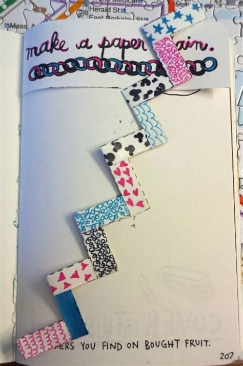 How To Make A Paper Chain - make a paper chain my wreck this journal