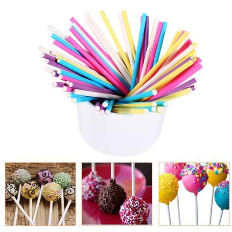 Orderan Cake Pop 100 Pcs מוצר 100pcs colorful lollipop stick 10cm papen cake pop sticks for lollypop lollipop