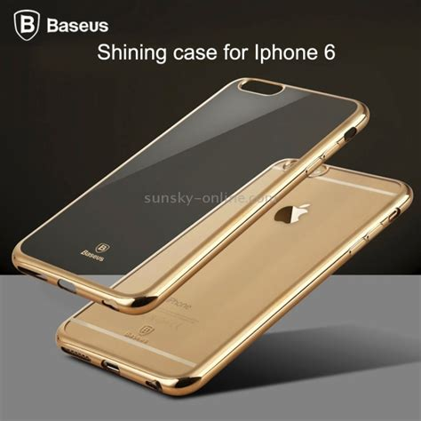 Baseus Shinning Ultra Thin Electroplating Transpar Promo sunsky baseus shining 1mm ultra thin electroplating anti scratch tpu protective for